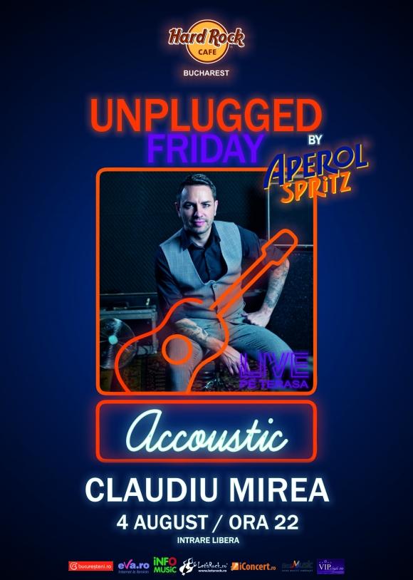 Unplugged Friday cu Claudiu Mirea la Hard Rock Cafe