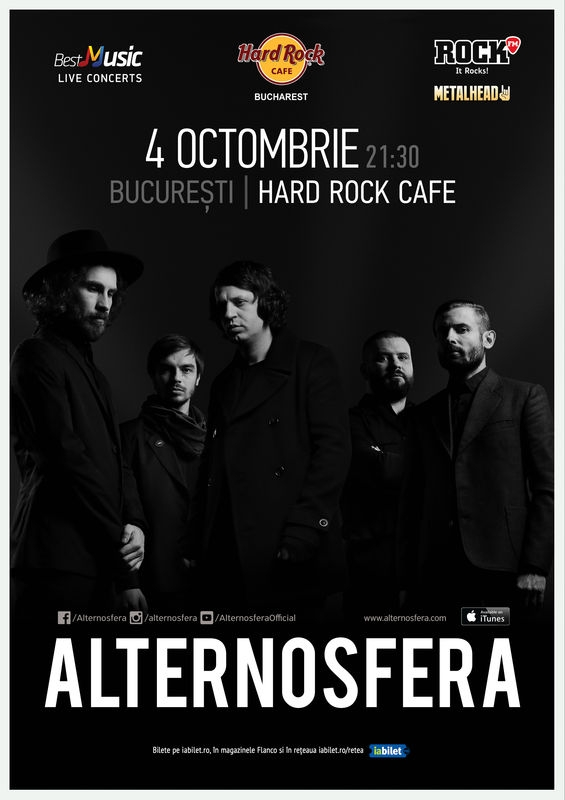 Concert Alternosfera la Hard Rock Cafe pe 4 octombrie