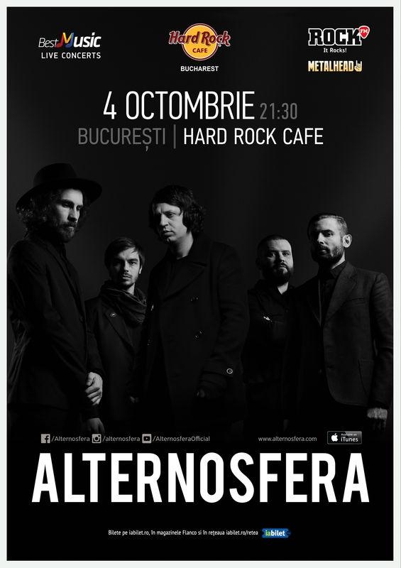 Concert Alternosfera la Hard Rock Cafe pe 4 octombrie