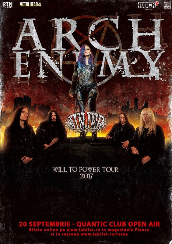 Concert Arch Enemy si Jinjer la Bucuresti: Program si Reguli de acces