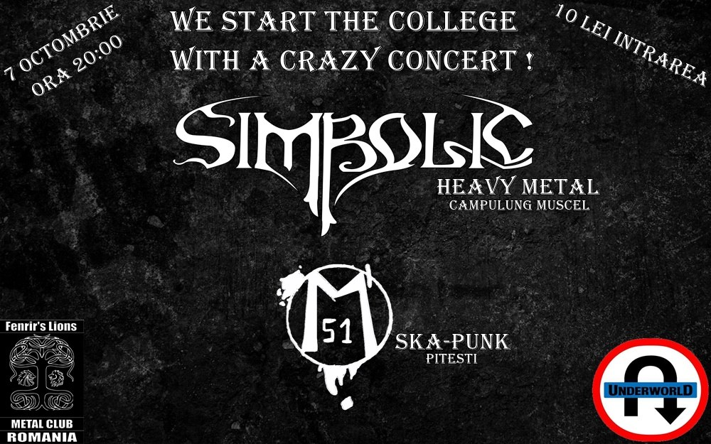 Concert Simbolic & Magazinu 51 in club Underworld