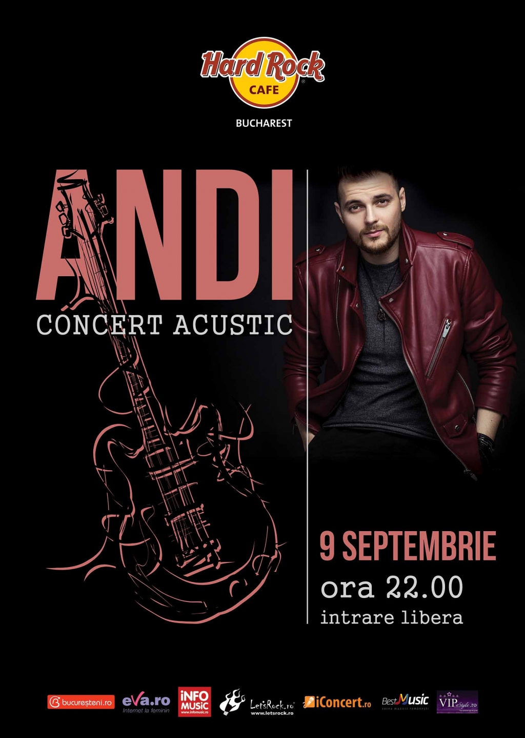 Concert acustic ANDI pe terasa Hard Rock Cafe