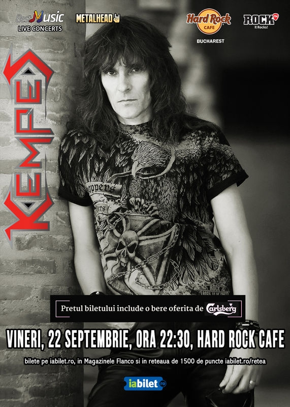 Kempes concerteaza pe 22 septembrie la Hard Rock Cafe
