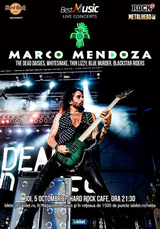 Legendarul Marco Mendoza canta la Hard Rock Cafe pe 5 octombrie