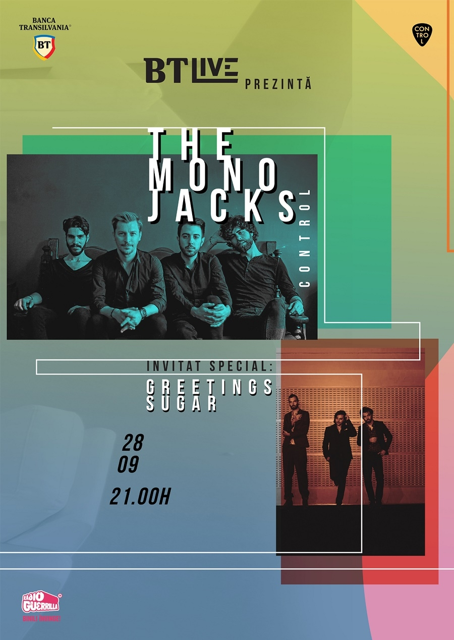 The Mono Jacks & Greetings Sugar concerteaza la BT Live in Club Control