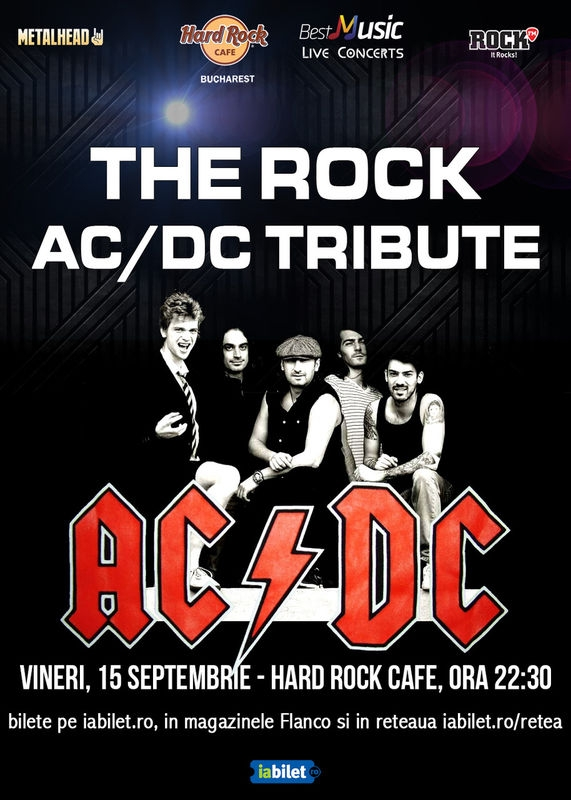 The Rock, trupa tribut AC/DC, concerteaza la Hard Rock Cafe