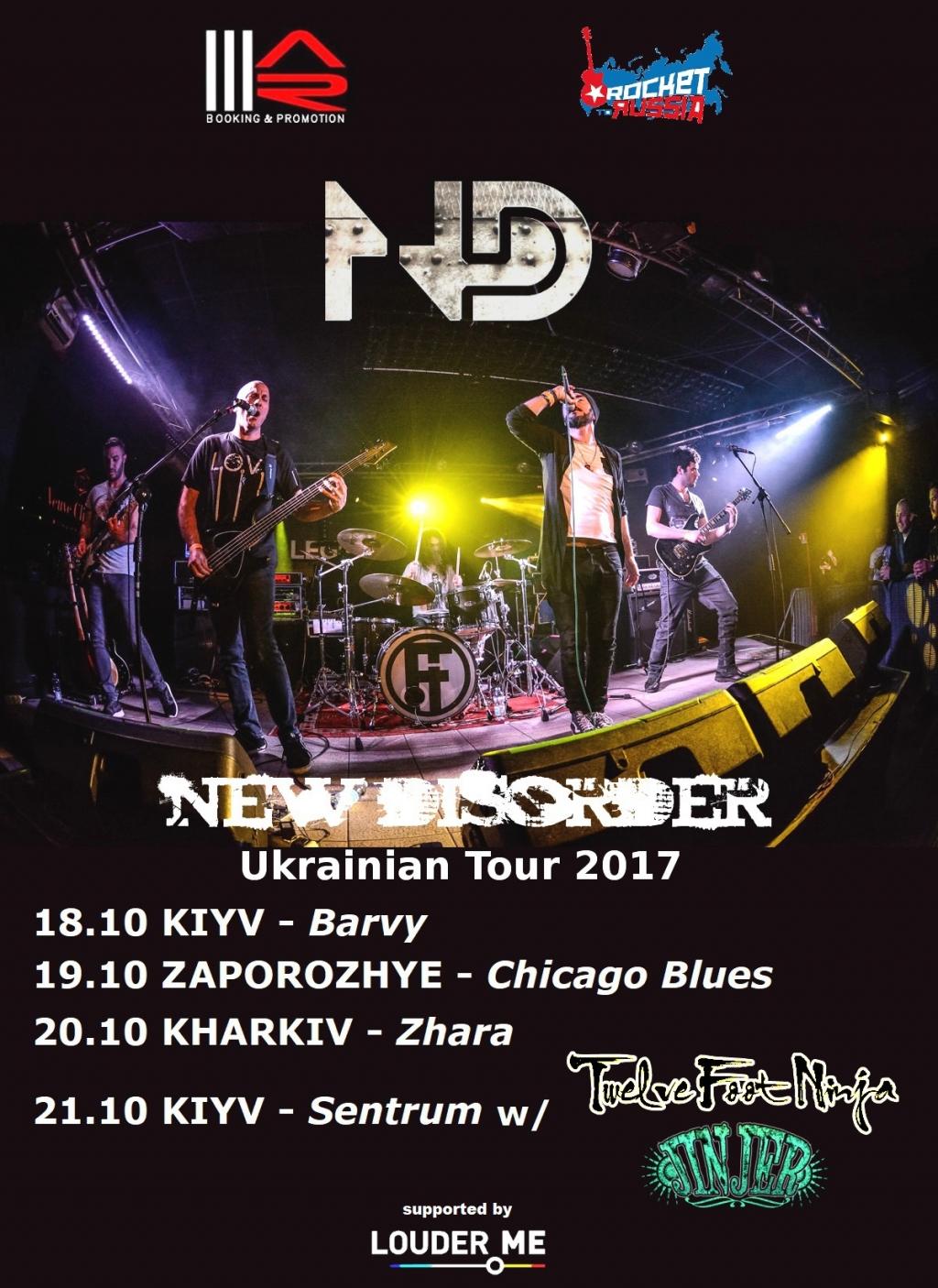 Trupa New Disorder lanseaza un nou videoclip si anunta turneul in Ucraina