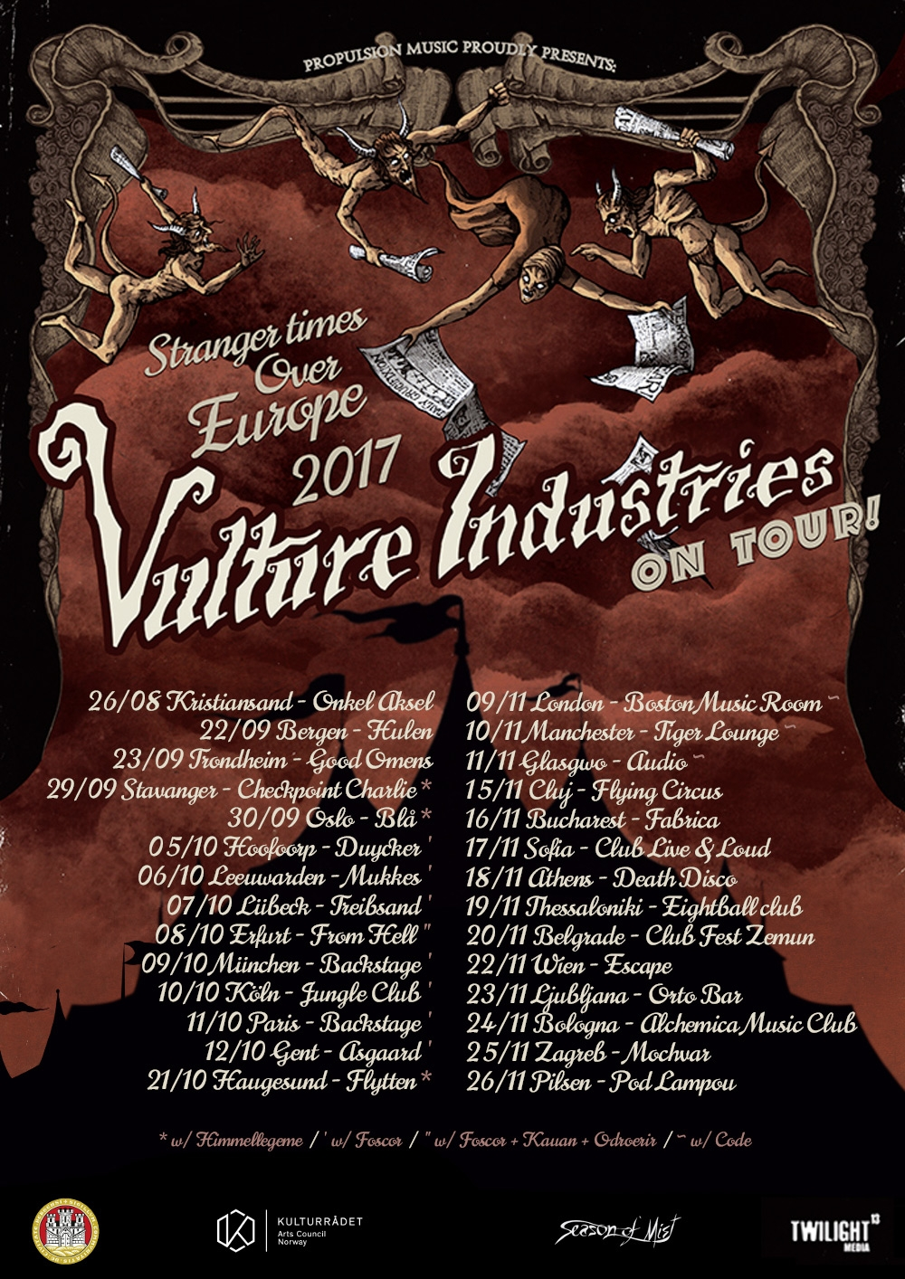 Vulture Industries, videoclip nou si concert in Romania
