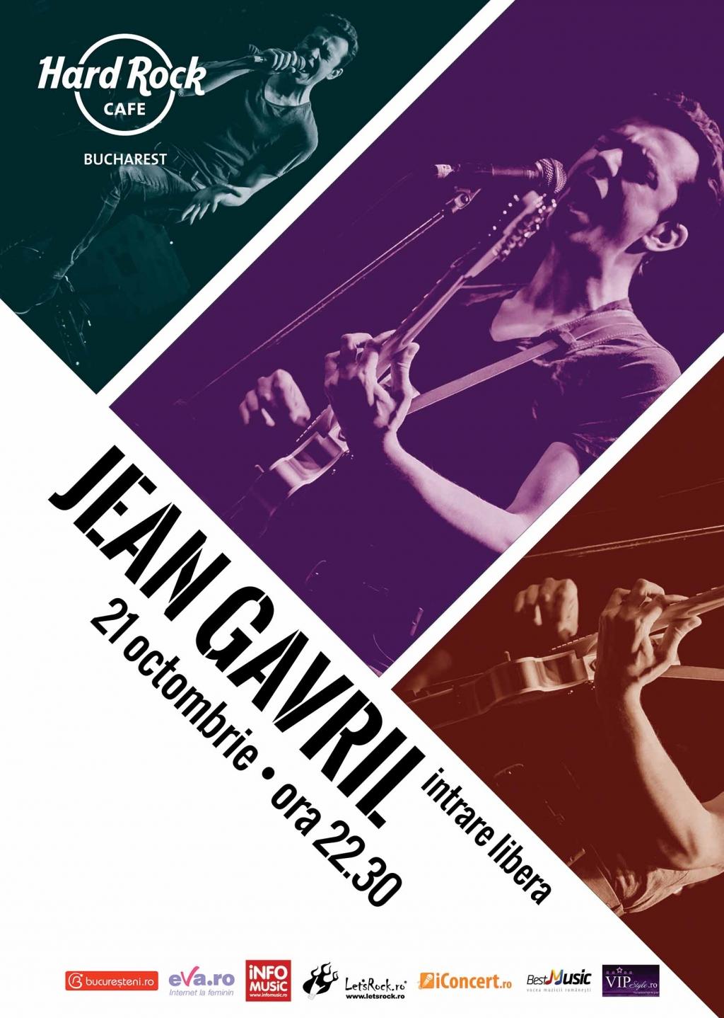 Concert Jean Gavril la Hard Rock Cafe