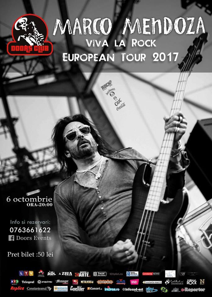 Marco Mendoza, basistul trupei Whitesnake, concerteaza la Doors Club