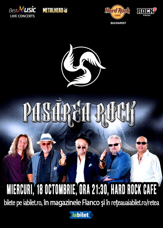 Pasarea Rock concerteaza la Hard Rock Cafe