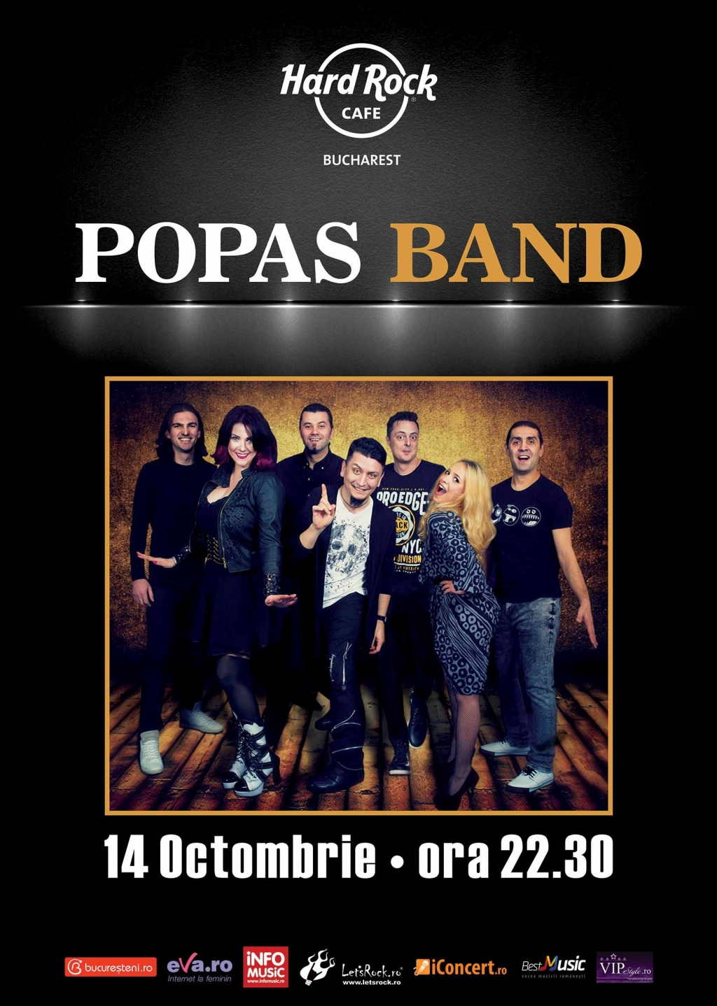 Popas Band concerteaza la Hard Rock Cafe pe 14 octombrie