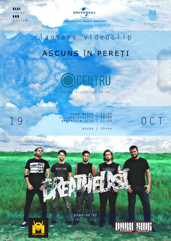 Trupa Breathelast a lansat single-ul 'Ascuns in pereti' in exclusivitate pe Zonga