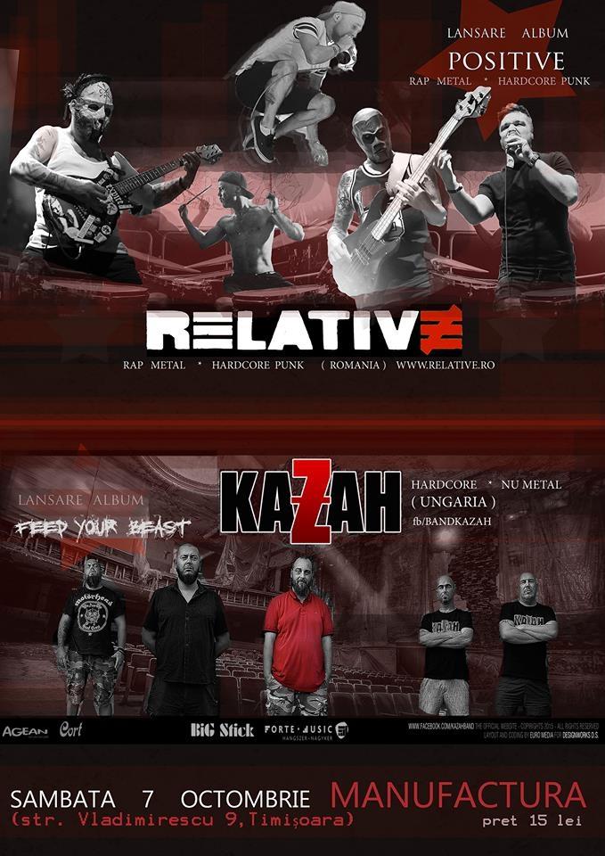 Trupa Relative lanseaza albumul Positive la Timisoara