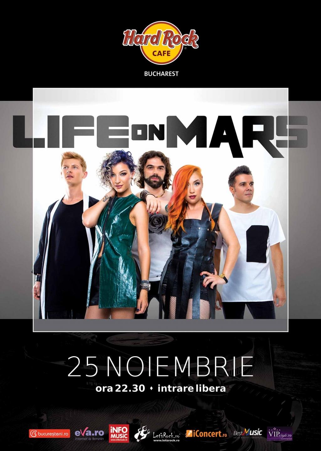 Concert Life on Mars, la Hard Rock Cafe