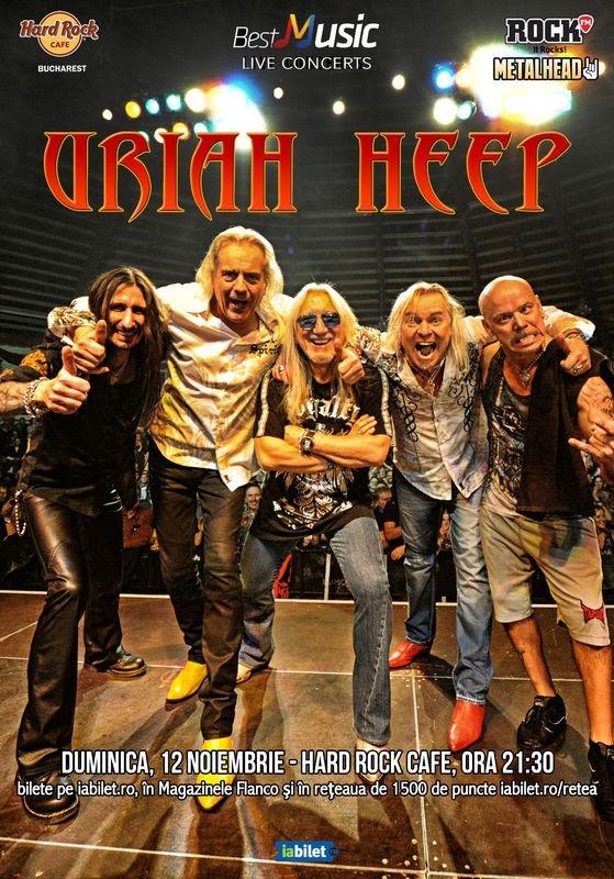 Concert Uriah Heep la Hard Rock Cafe: Categoria cu loc la masa in sala este Sold Out