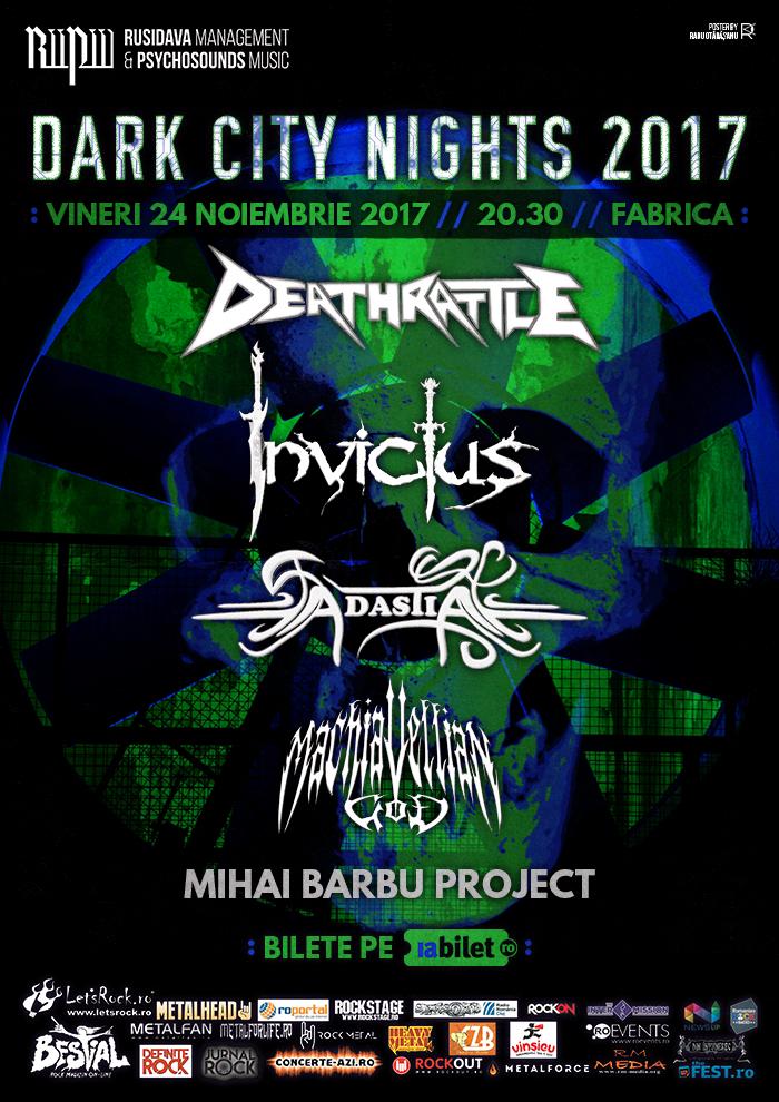 Concertele 'Dark City Nights' se reintorc in Fabrica