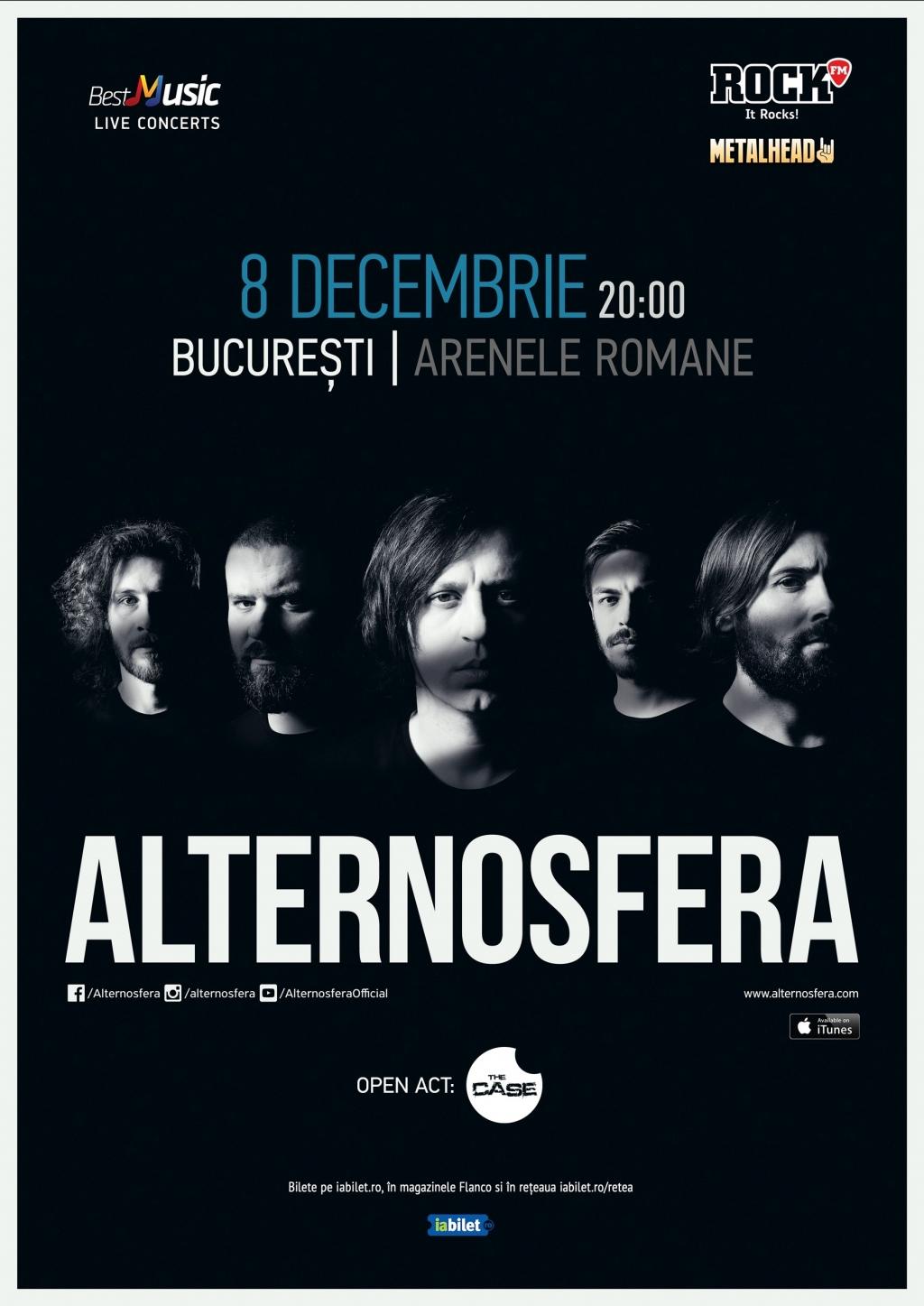The Case canta alaturi de Alternosfera pe 8 decembrie la Arenele Romane