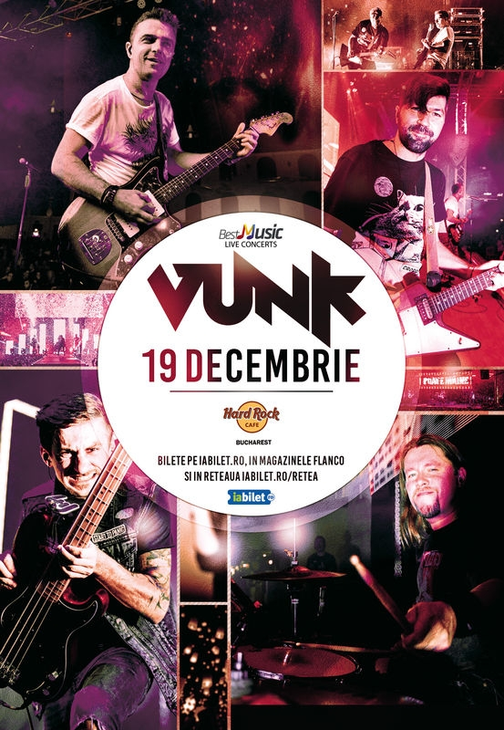 Concert Vunk la Hard Rock Cafe pe 19 decembrie