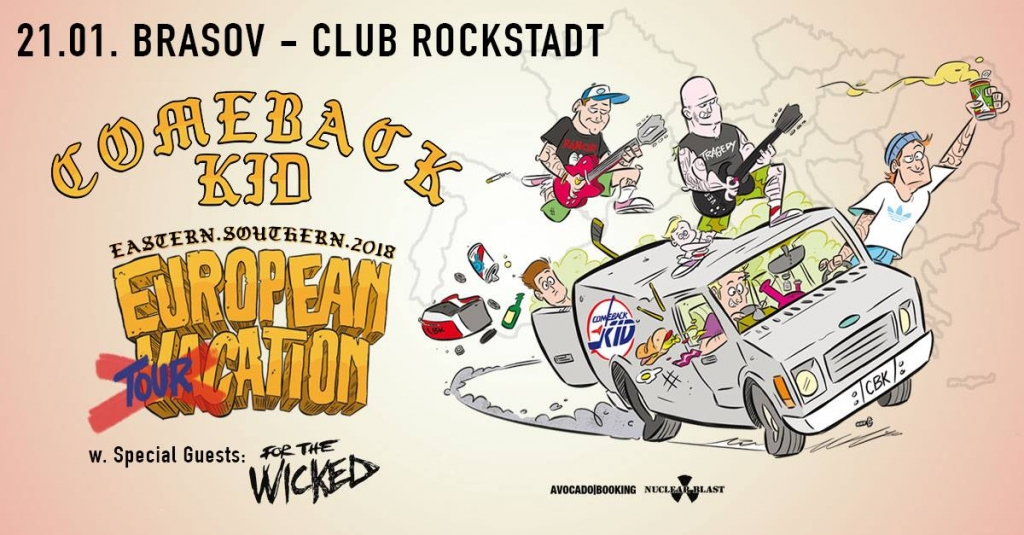 Concert Comeback Kid si For The Wicked in club Rockstadt Brasov