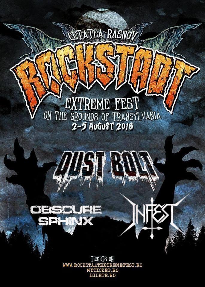 DUST BOLT, OBSCURE SPHINX si INFEST confirmate pentru Rockstadt Extreme Fest 2018