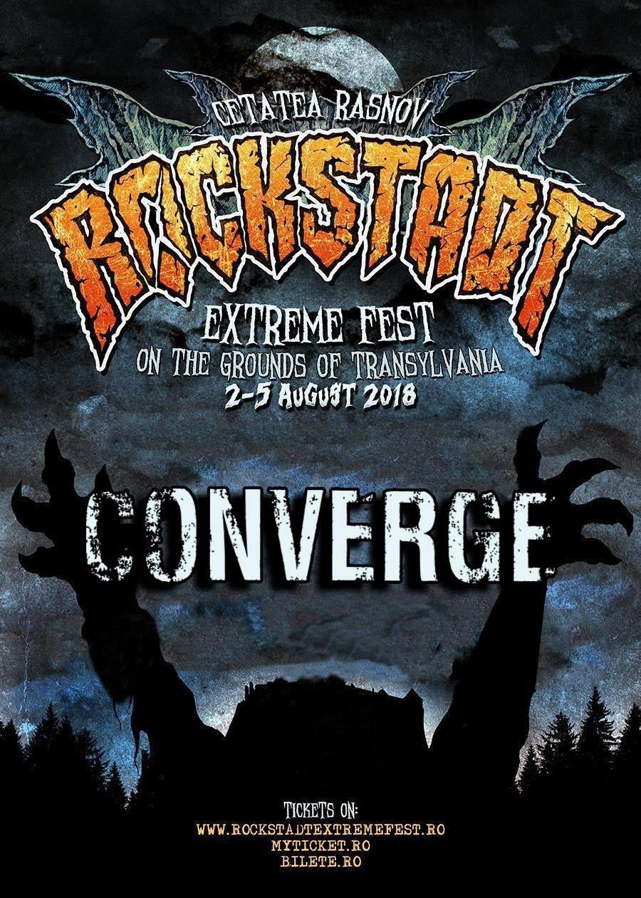 Trupa CONVERGE confirmata pentru Rockstadt Extreme Fest 2018
