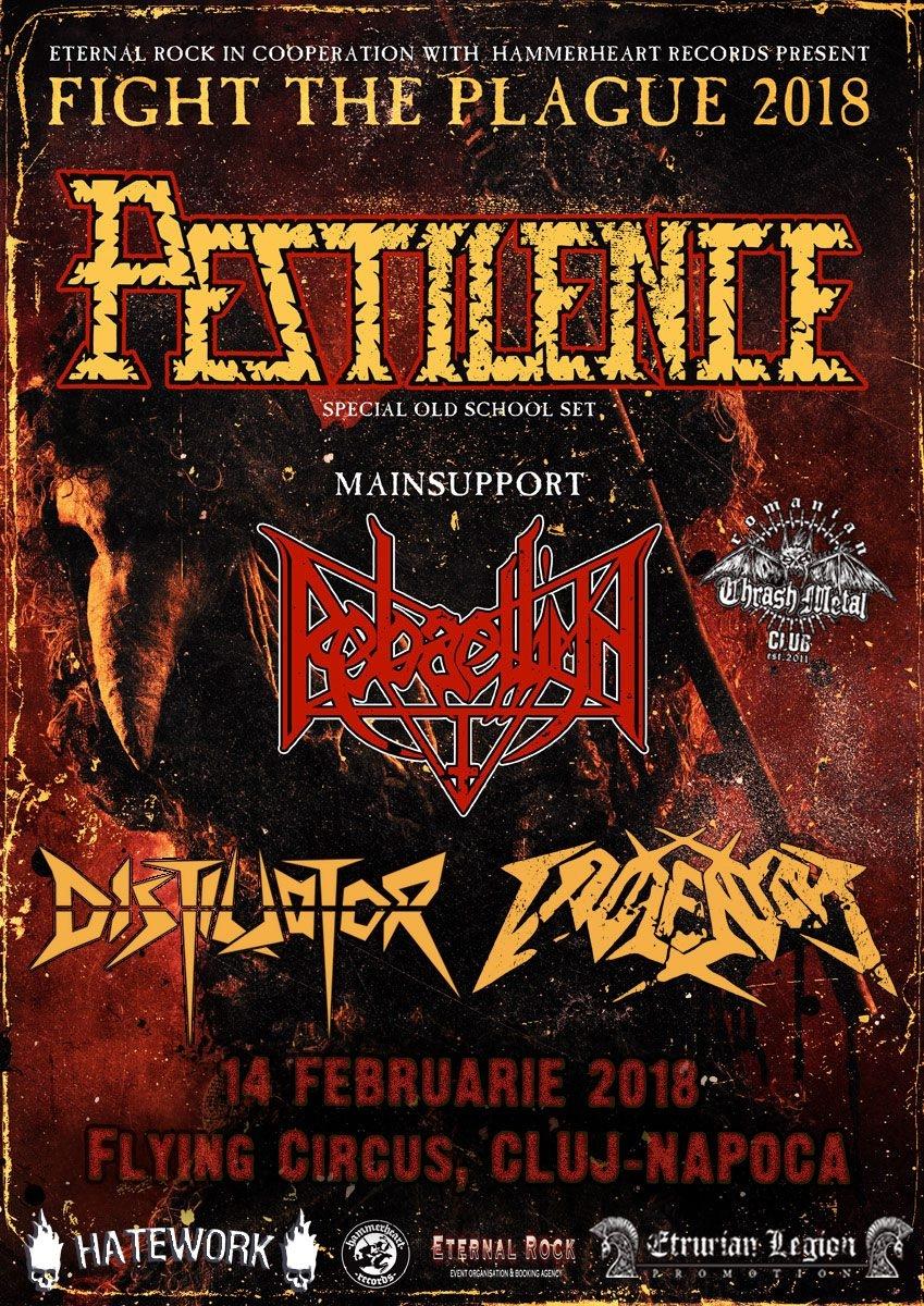 Trupele de deschidere la concertul Pestilence din 14 februarie
