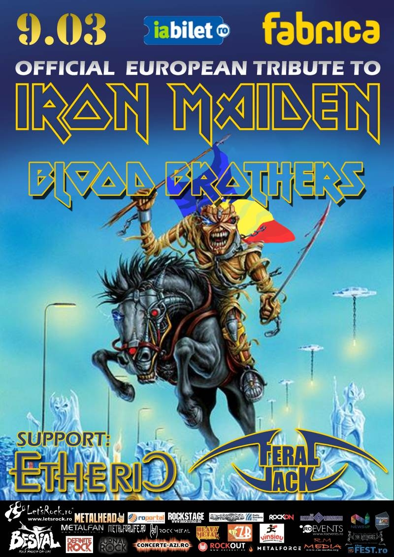 Concert Iron Maiden by Blood Brothers, Etheric, Feral Jack in club Fabrica