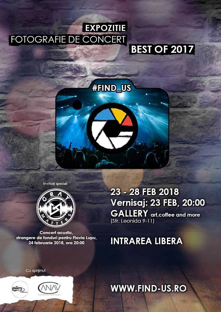 Concert acustic GRAY MATTERS si tombola in cadrul Expozitiei #FIND_US – Best of 2017