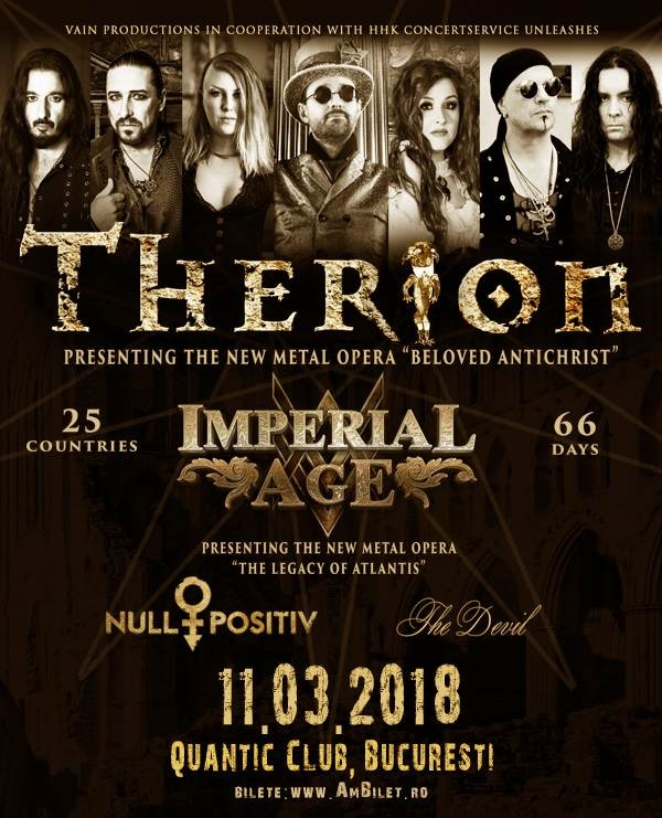 Concertul Therion se muta in clubul Quantic