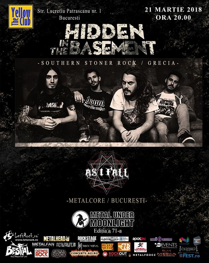 Programul concertului Hidden in the Basement si As I Fall de miercuri