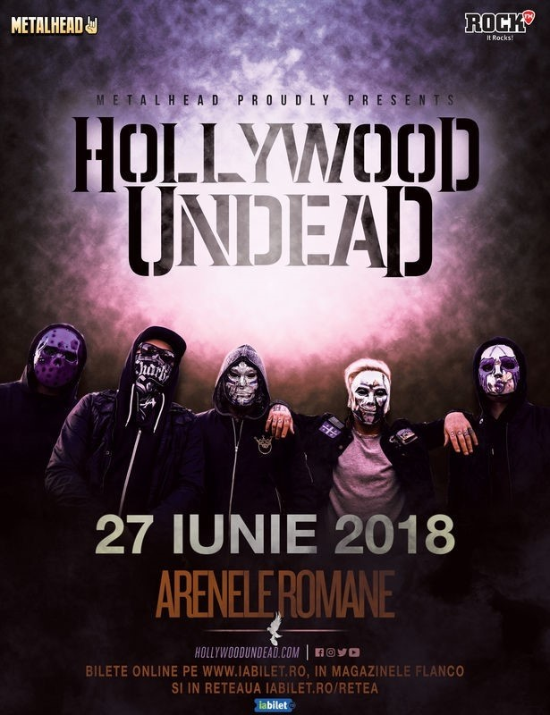 Categoria de bilete Golden Circle pentru concertul Hollywood Undead de la București este sold out