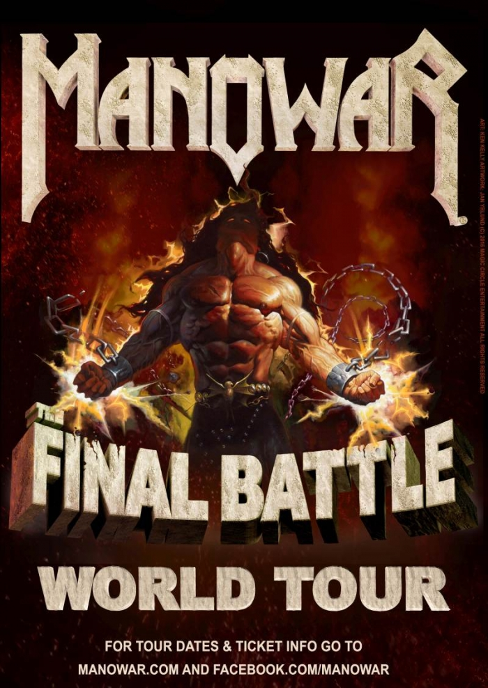 Votarea pieselor favorite pentru turneul MANOWAR 'The Final Battle Tour Germany 2019' a inceput