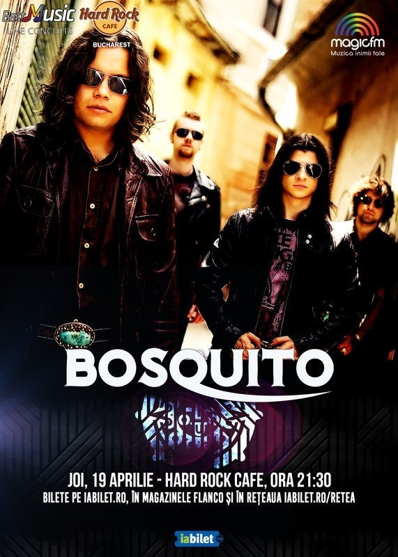 Concert Bosquito la Hard Rock Cafe