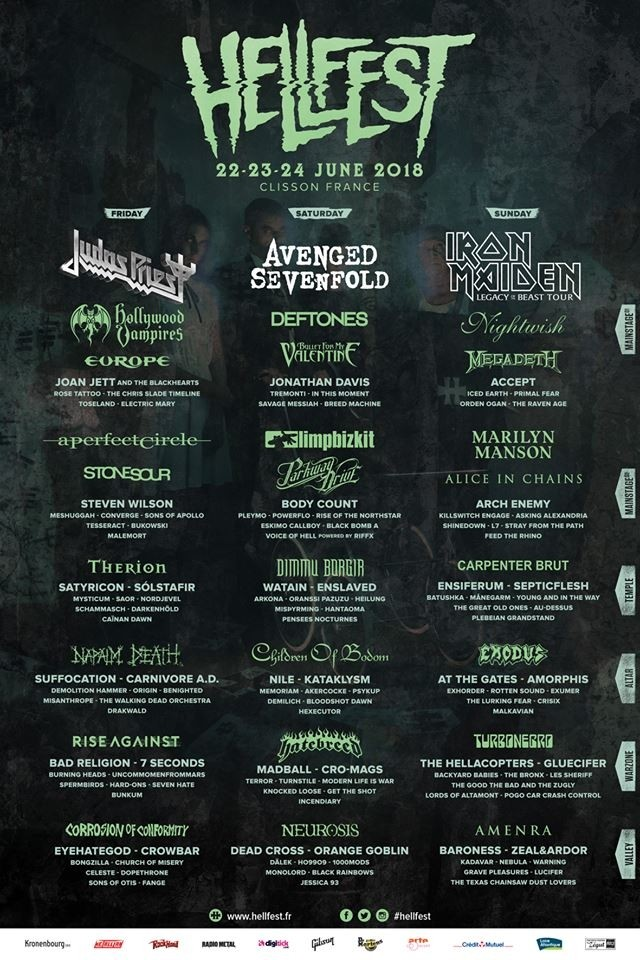 Hellfest Open Air 2018 - line-up final