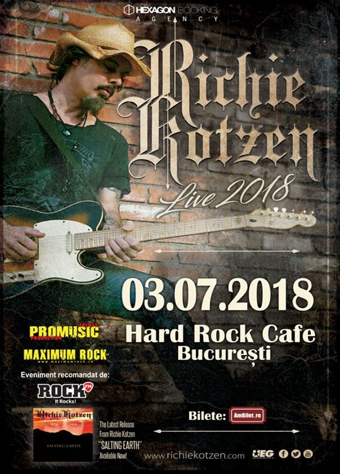 Concert Richie Kotzen la Hard Rock Cafe, București