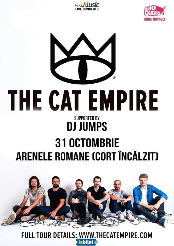 Un nou concert The Cat Empire, la Arenele Romane din București