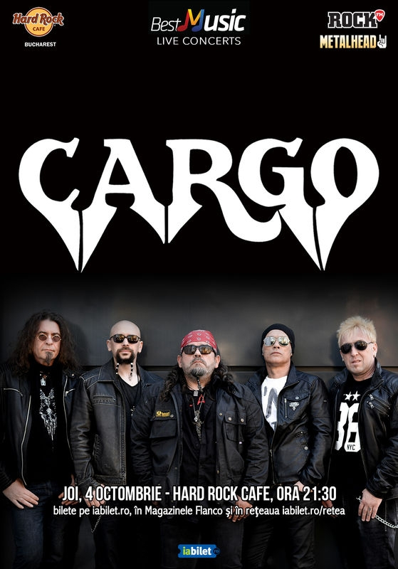 Concert Cargo la Hard Rock Cafe, București