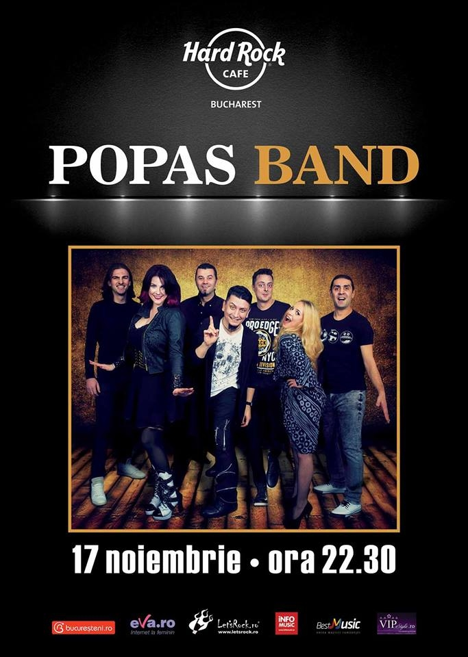 Concert Popas Band la Hard Rock Cafe, București