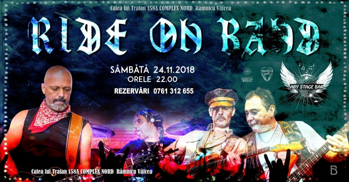 Concert Ride on Band în Aby Stage Bar, Râmnicu Vâlcea