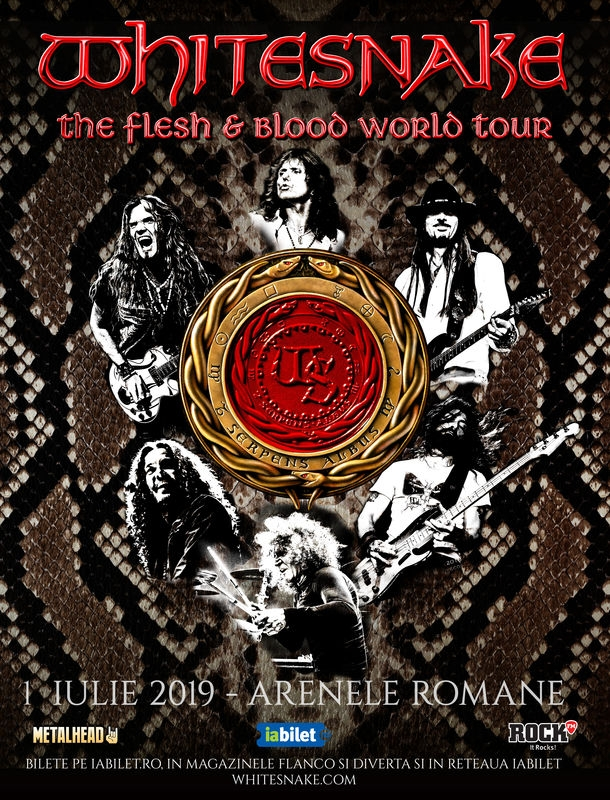 Concert Whitesnake la Arenele Romane: Categoria Acces General este Sold Out!