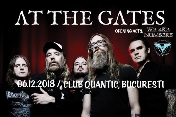 Program și reguli de acces la concertele W3 4R3 NUM83R5, Twist of Fate și At The Gates în Club Quantic
