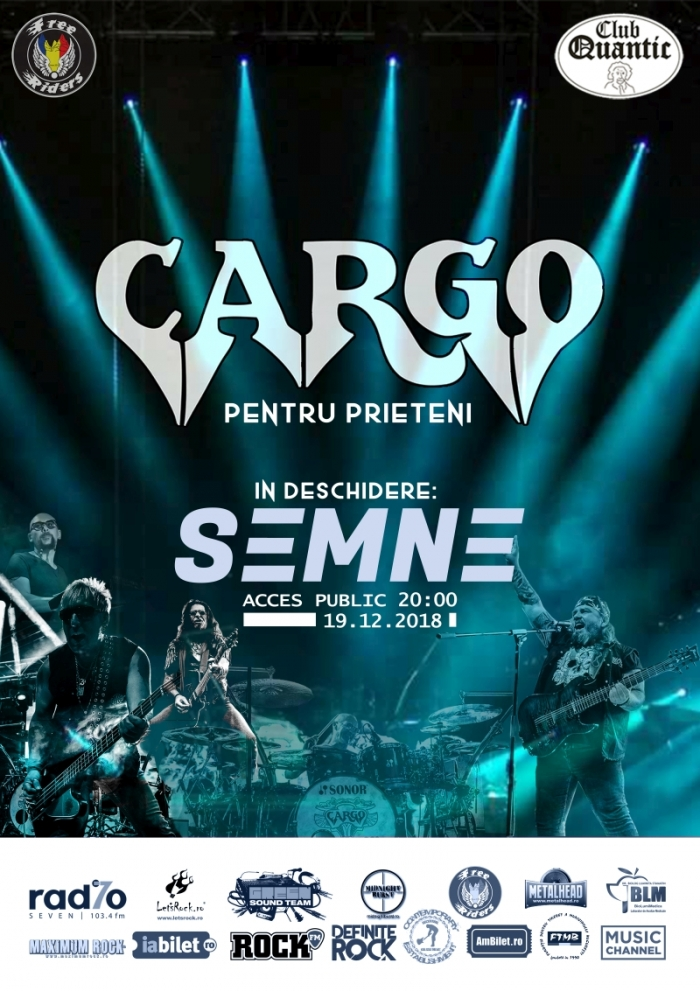Concert SeMnE si Cargo in Club Quantic, Bucuresti