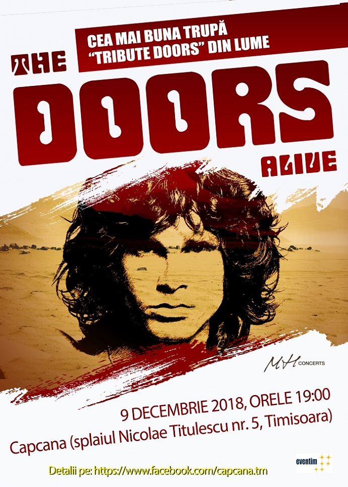 Concert The Doors Alive in Club Capcana, Timisoara