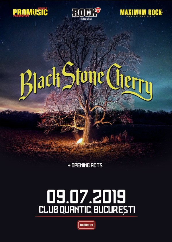 Concert Black Stone Cherry in club Quantic