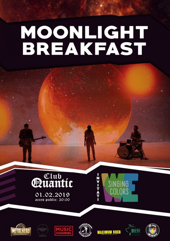 Concert Moonlight Breakfast si We Singing Colours in club Quantic