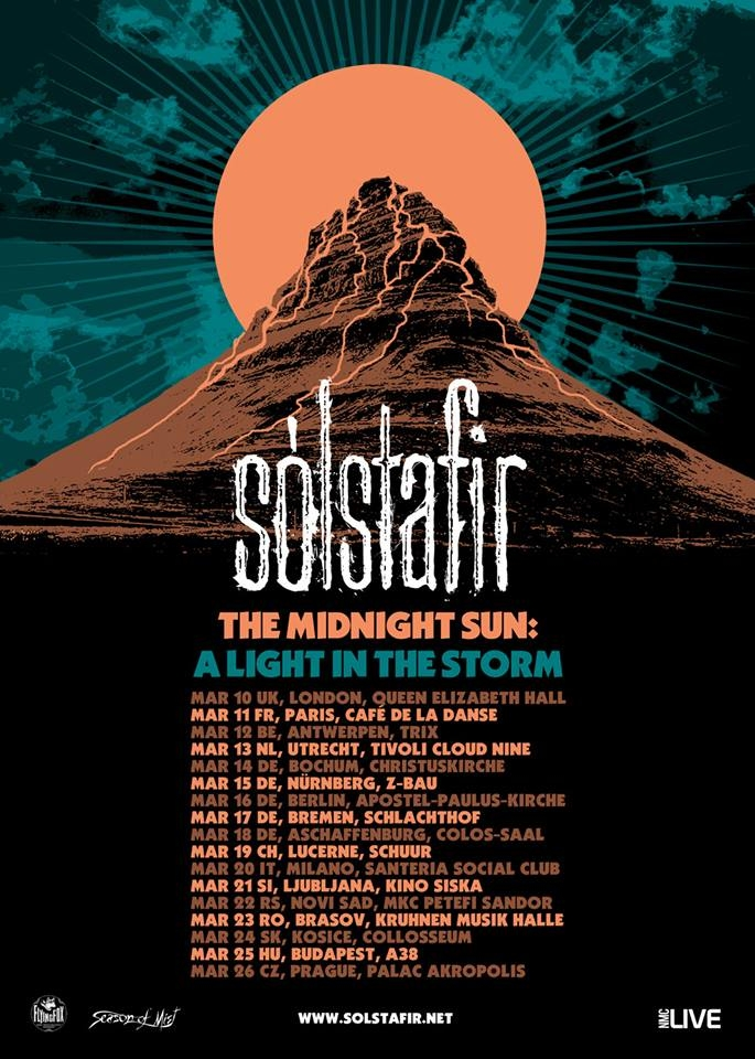 Concert Sólstafir - The Midnight Sun: a Light in the Storm, in Kruhnen Musik Halle din Brasov