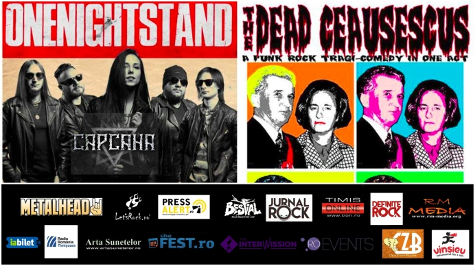 Concert The Dead Ceausescus si Onenightstand in club Capcana