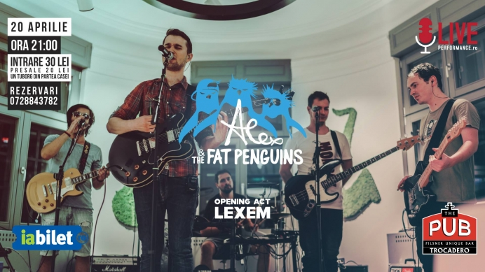 Concert Alex & The Fat Penguins și Lexem în The Pub, București