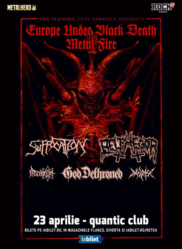 Program si reguli de acces la concertele Suffocation, Belphegor si God Dethroned in Club Quantic si /Form Space